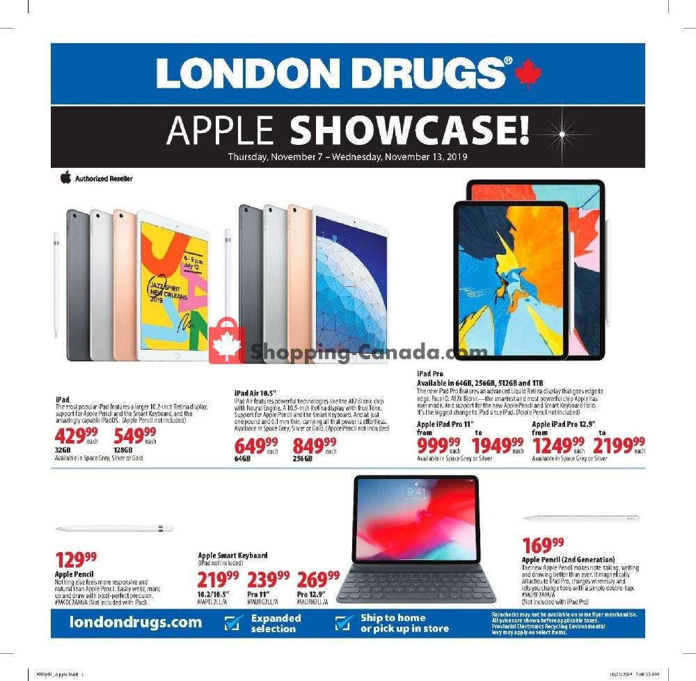 Flyer London Drugs Canada - from Thursday November 7, 2019 to Wednesday November 13, 2019