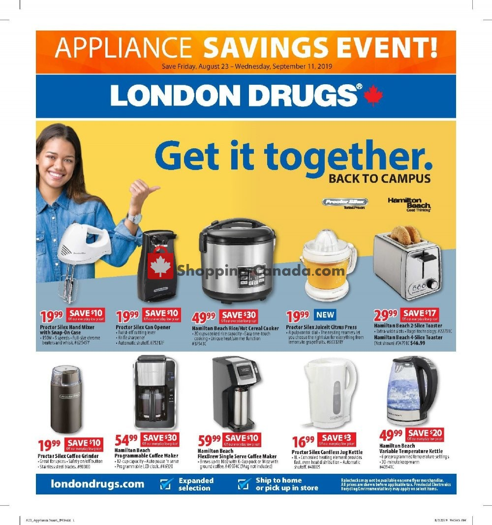 Flyer London Drugs Canada - from Friday August 23, 2019 to Wednesday September 11, 2019