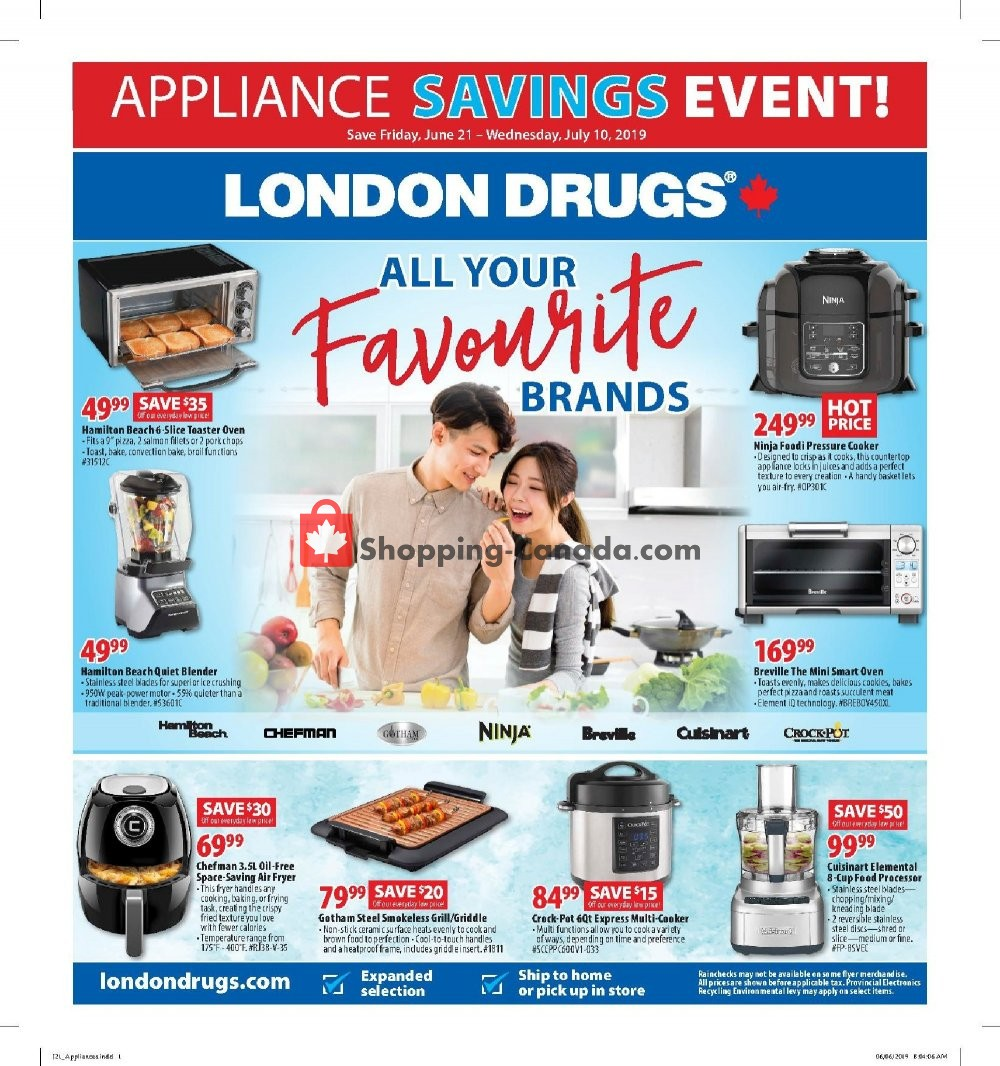 Flyer London Drugs Canada - from Friday June 21, 2019 to Wednesday July 10, 2019