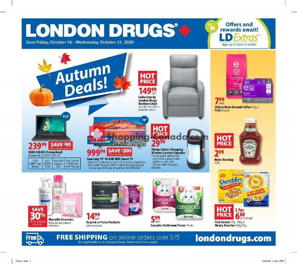 Flyer London Drugs Canada - from Friday October 16, 2020 to Wednesday October 21, 2020