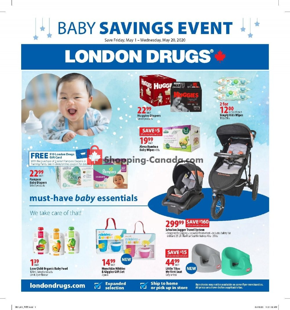 Flyer London Drugs Canada - from Friday May 1, 2020 to Wednesday May 20, 2020