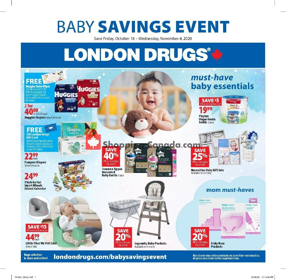 Flyer London Drugs Canada - from Friday October 16, 2020 to Wednesday November 4, 2020