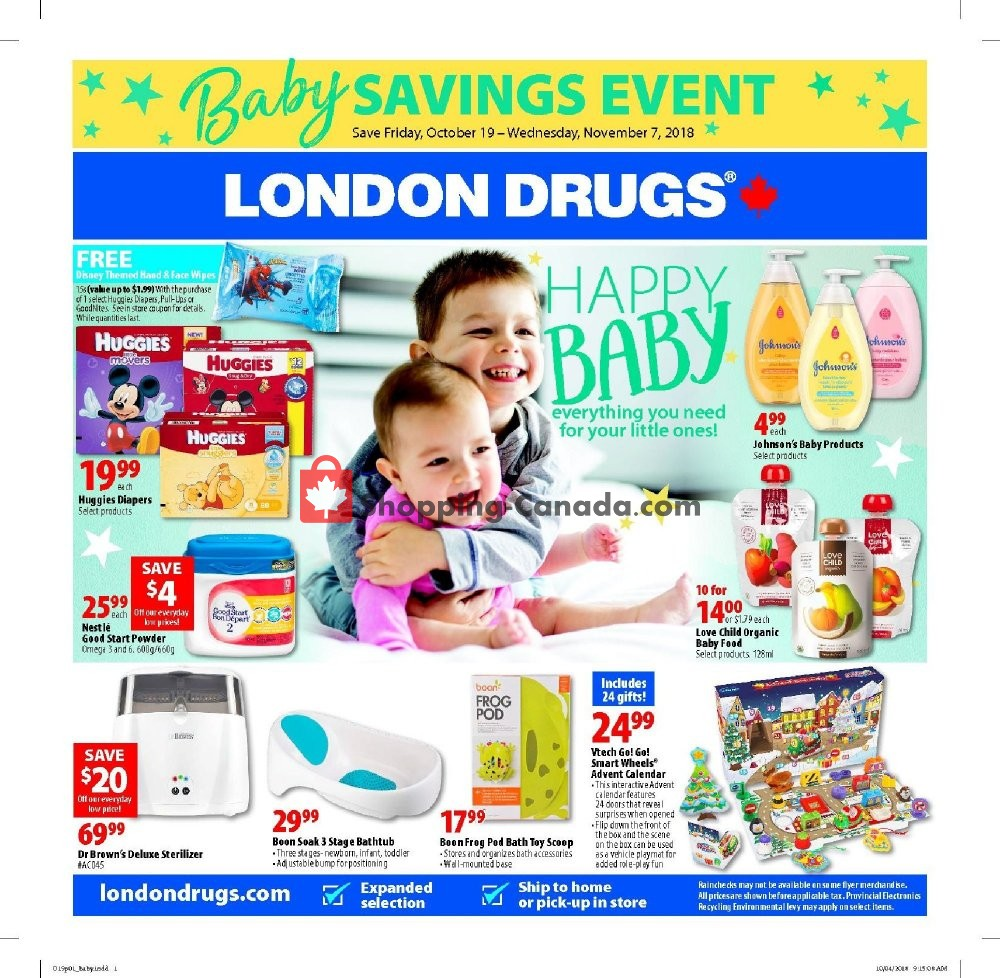 Flyer London Drugs Canada - from Friday October 19, 2018 to Wednesday November 7, 2018