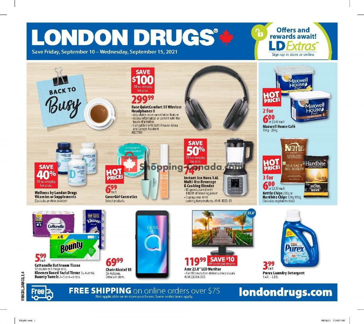 Flyer London Drugs Canada - from Friday September 10, 2021 to Wednesday September 15, 2021