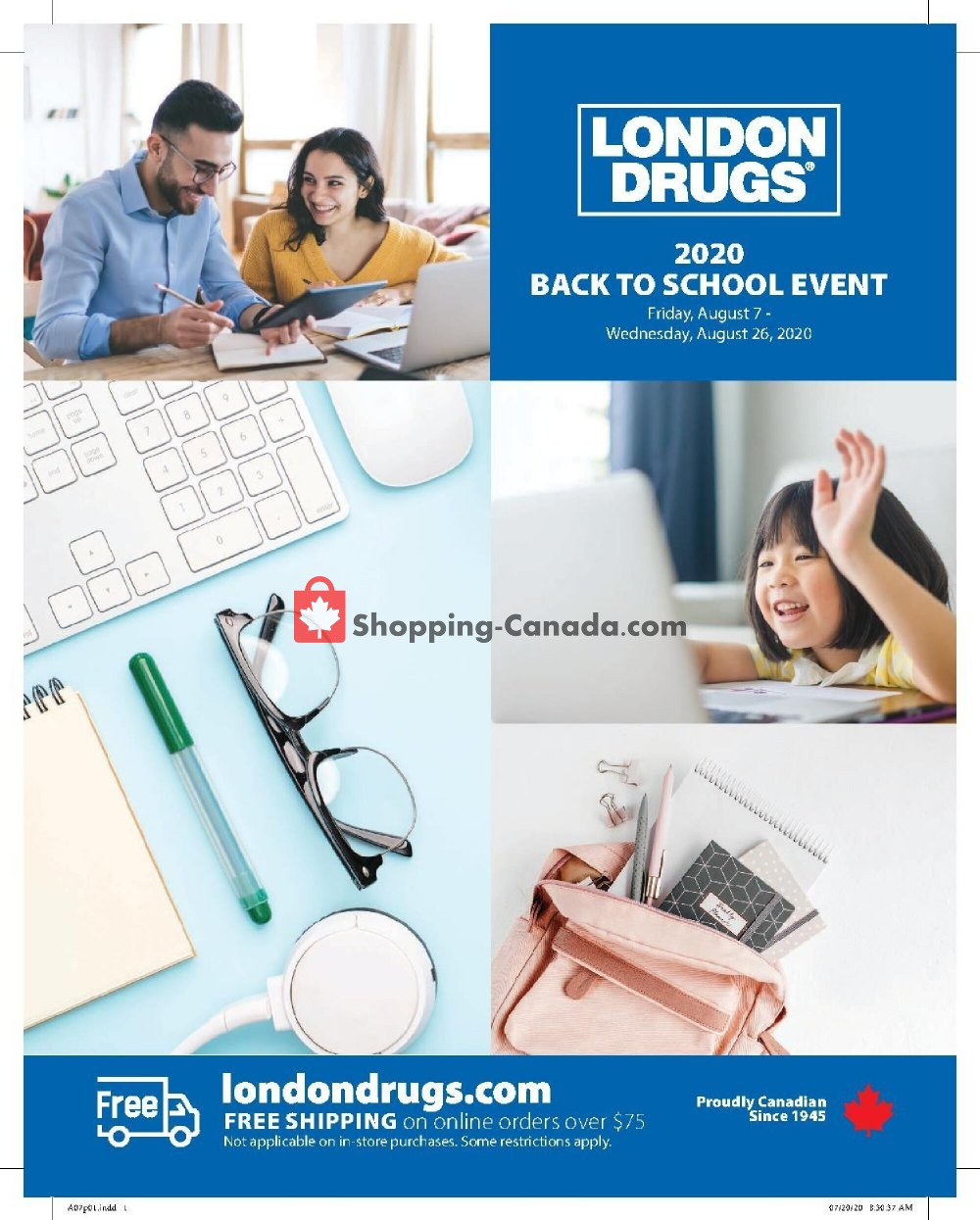 Flyer London Drugs Canada - from Friday August 7, 2020 to Wednesday August 26, 2020