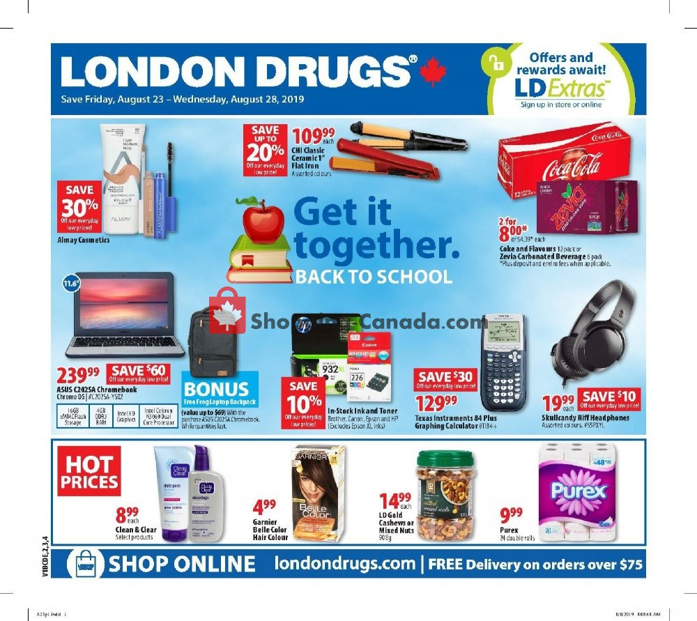 Flyer London Drugs Canada - from Friday August 23, 2019 to Wednesday August 28, 2019