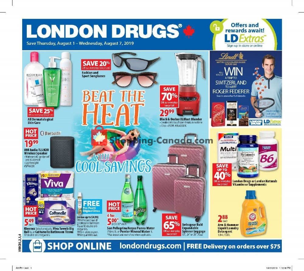 Flyer London Drugs Canada - from Thursday August 1, 2019 to Wednesday August 7, 2019