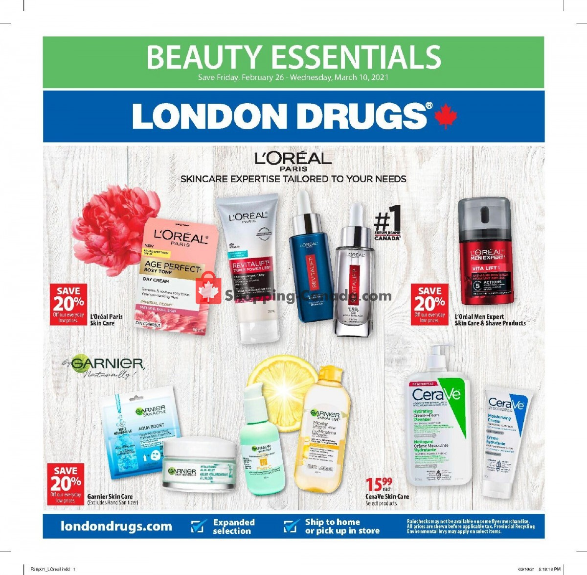 Flyer London Drugs Canada - from Friday February 26, 2021 to Wednesday March 10, 2021