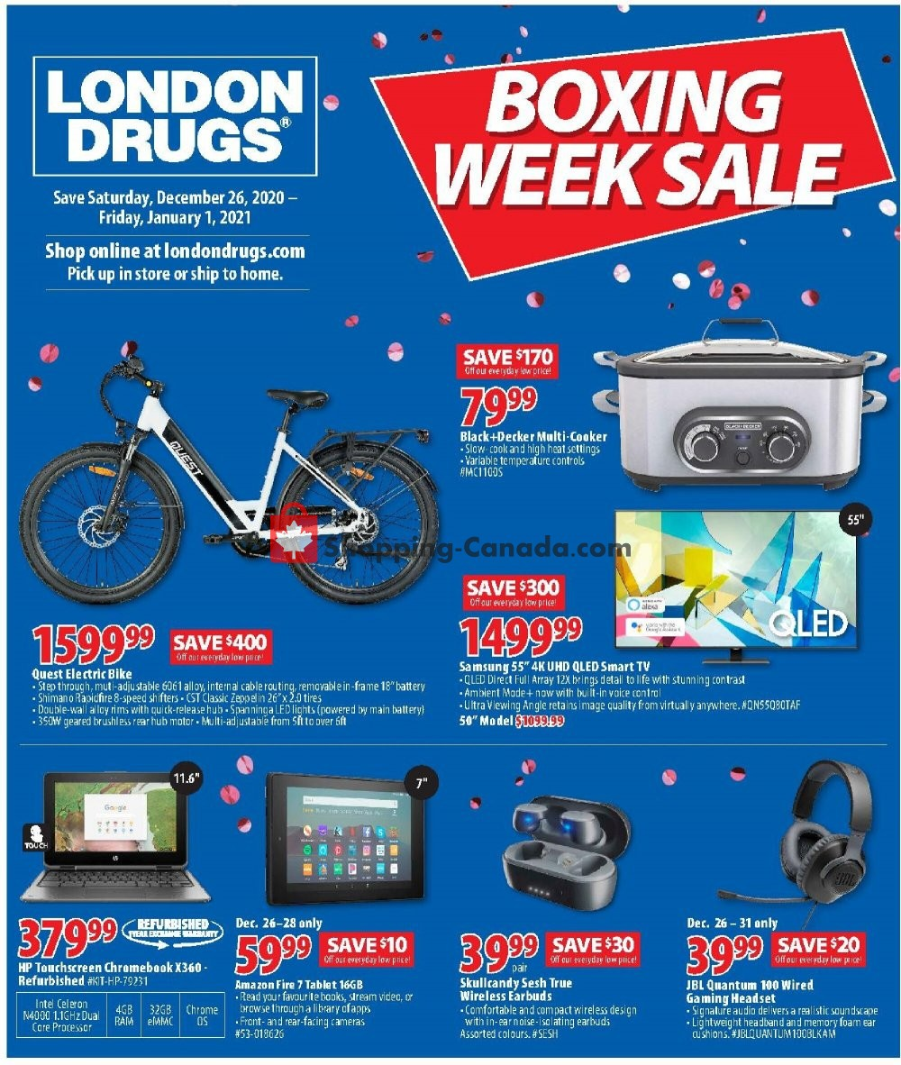 Flyer London Drugs Canada - from Saturday December 26, 2020 to Friday January 1, 2021