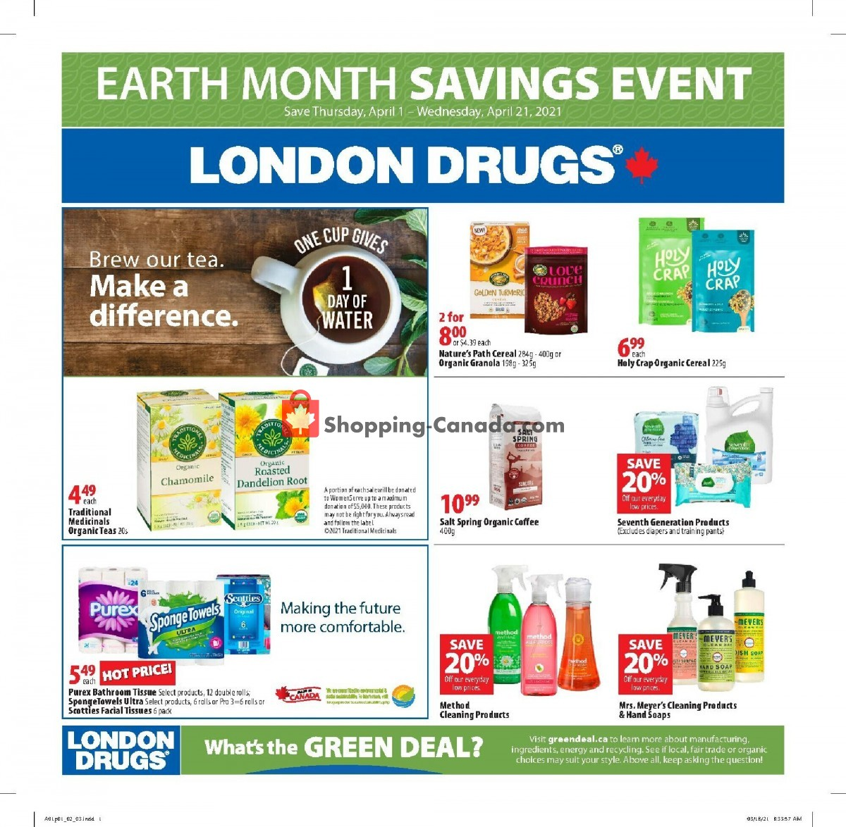 Flyer London Drugs Canada - from Thursday April 1, 2021 to Wednesday April 21, 2021