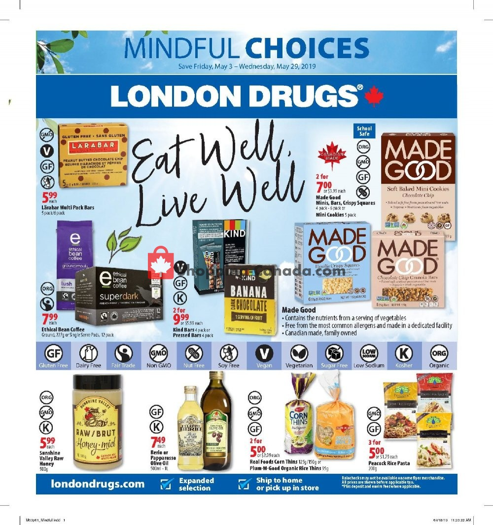 Flyer London Drugs Canada - from Friday May 3, 2019 to Wednesday May 29, 2019
