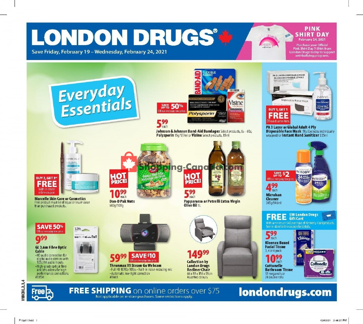 Flyer London Drugs Canada - from Friday February 19, 2021 to Wednesday February 24, 2021
