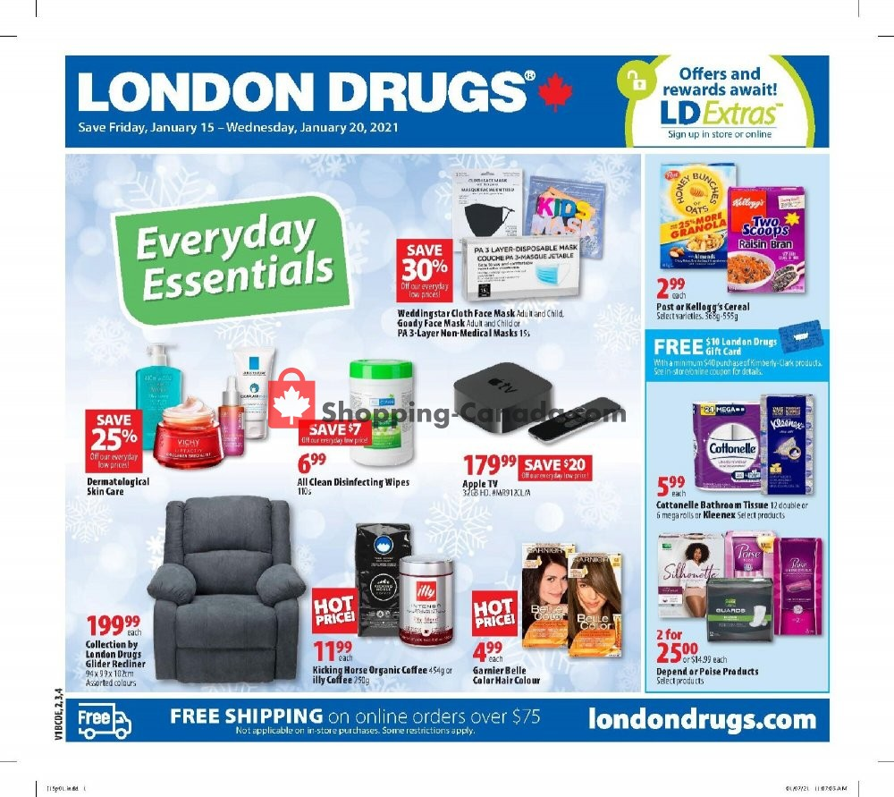 Flyer London Drugs Canada - from Friday January 15, 2021 to Wednesday January 20, 2021