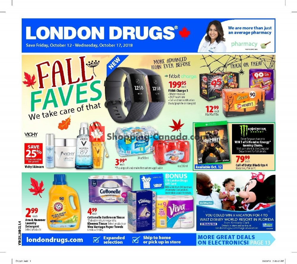 Flyer London Drugs Canada - from Friday October 12, 2018 to Wednesday October 17, 2018