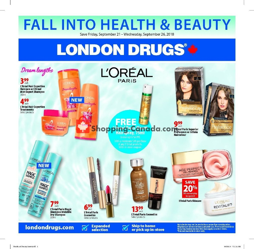Flyer London Drugs Canada - from Friday September 21, 2018 to Wednesday September 26, 2018