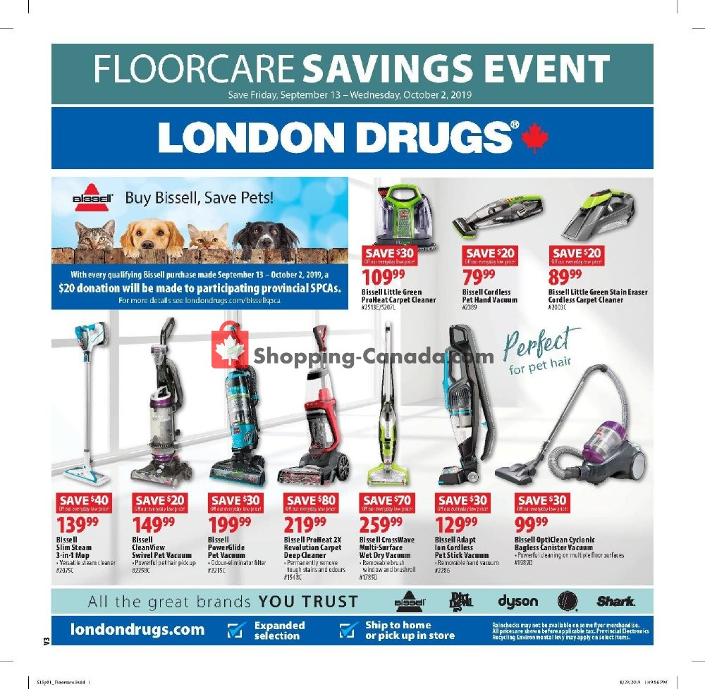 Flyer London Drugs Canada - from Friday September 13, 2019 to Wednesday October 2, 2019