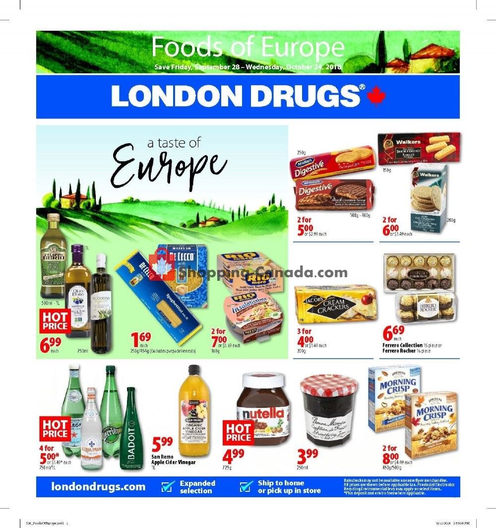Flyer London Drugs Canada - from Friday September 28, 2018 to Wednesday October 24, 2018