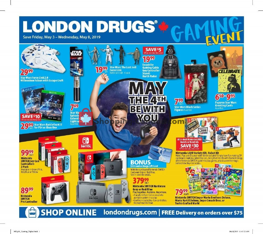Flyer London Drugs Canada - from Friday May 3, 2019 to Wednesday May 8, 2019