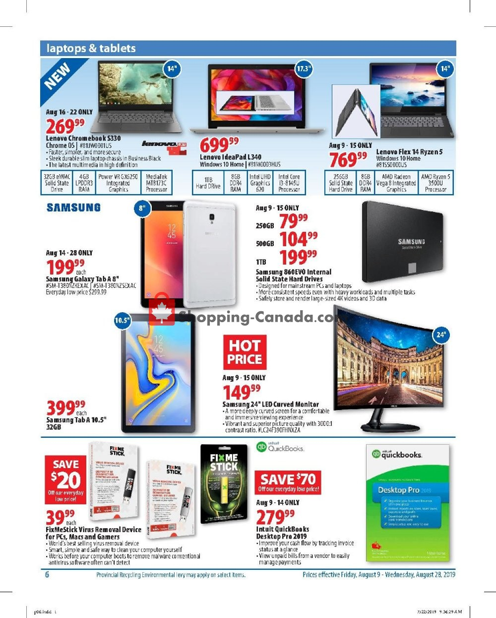 Flyer London Drugs Canada - from Friday August 9, 2019 to Wednesday August 28, 2019