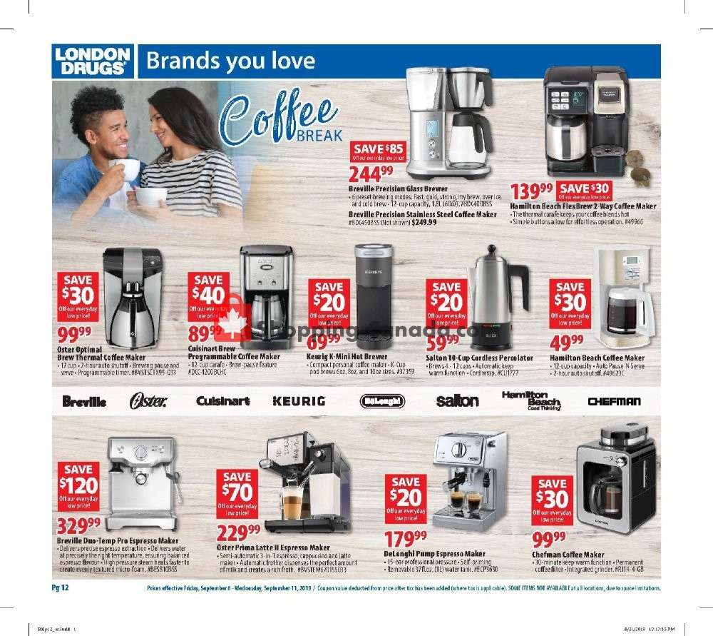 Flyer London Drugs Canada - from Friday September 6, 2019 to Wednesday September 11, 2019