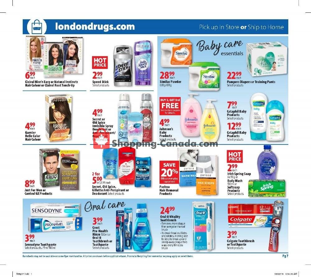 Flyer London Drugs Canada - from Friday September 6, 2019 to Wednesday September 11, 2019