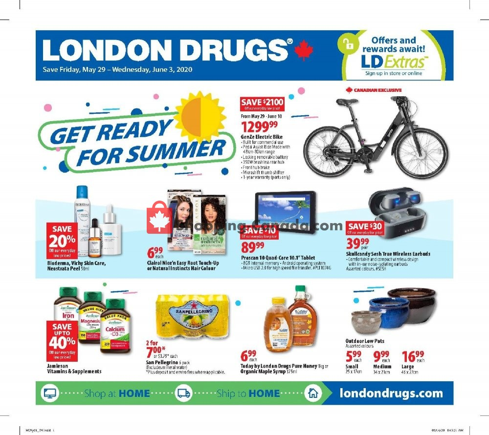 Flyer London Drugs Canada - from Friday May 29, 2020 to Wednesday June 3, 2020