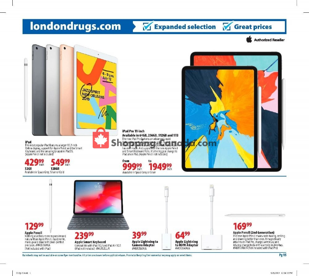Flyer London Drugs Canada - from Thursday October 10, 2019 to Wednesday October 16, 2019