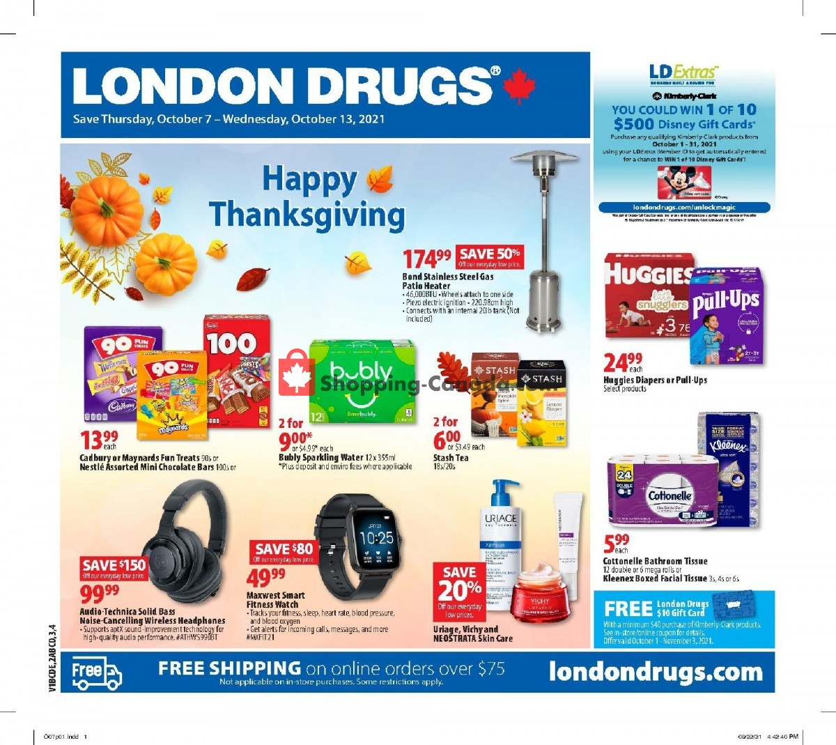 Flyer London Drugs Canada - from Thursday October 7, 2021 to Wednesday October 13, 2021