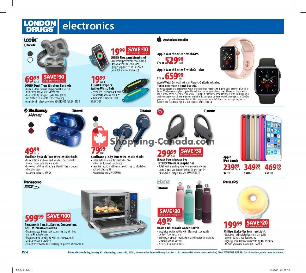 Flyer London Drugs Canada - from Friday January 10, 2020 to Wednesday January 15, 2020