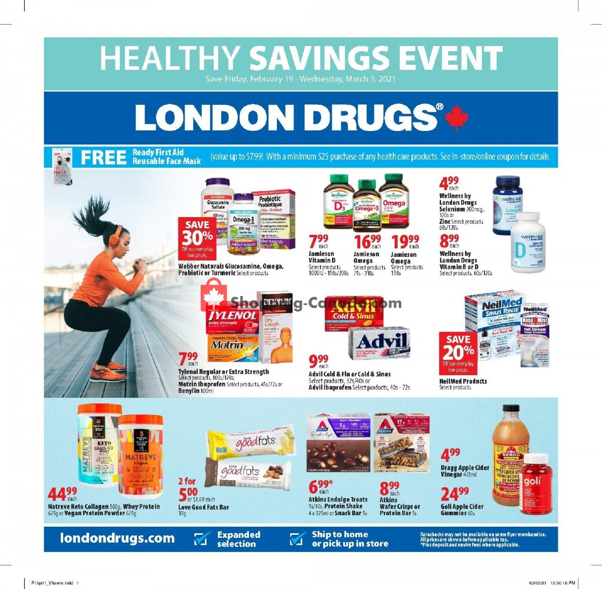 Flyer London Drugs Canada - from Friday February 19, 2021 to Wednesday March 3, 2021