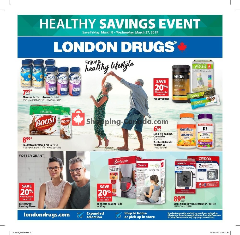 Flyer London Drugs Canada - from Friday March 8, 2019 to Wednesday March 27, 2019