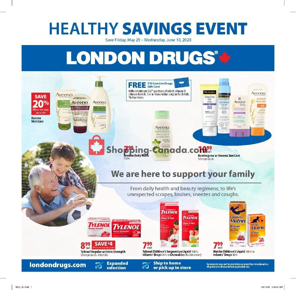 Flyer London Drugs Canada - from Friday May 29, 2020 to Wednesday June 10, 2020