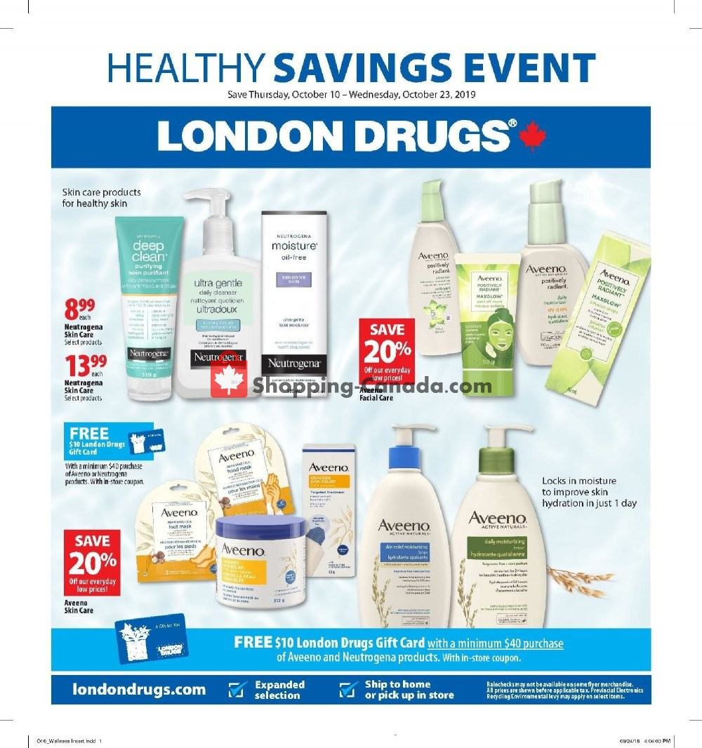 Flyer London Drugs Canada - from Thursday October 10, 2019 to Wednesday October 23, 2019