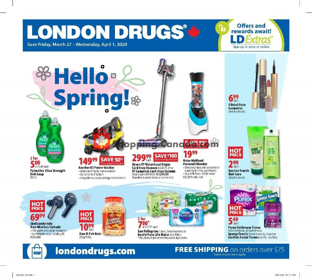 Flyer London Drugs Canada - from Friday March 27, 2020 to Wednesday April 1, 2020