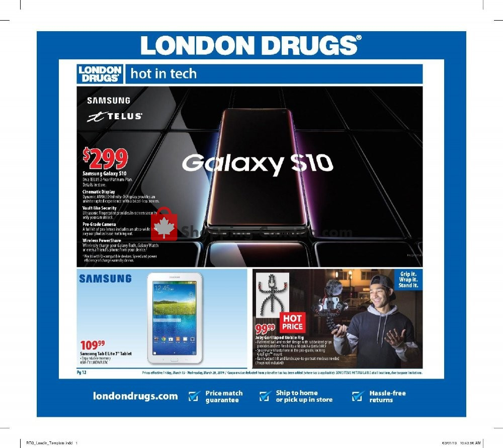 Flyer London Drugs Canada - from Friday March 15, 2019 to Wednesday March 20, 2019
