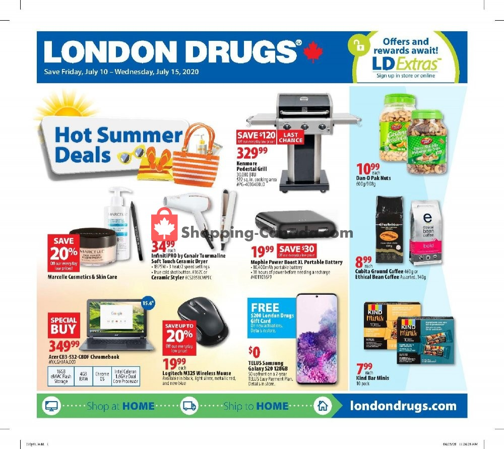Flyer London Drugs Canada - from Friday July 10, 2020 to Wednesday July 15, 2020