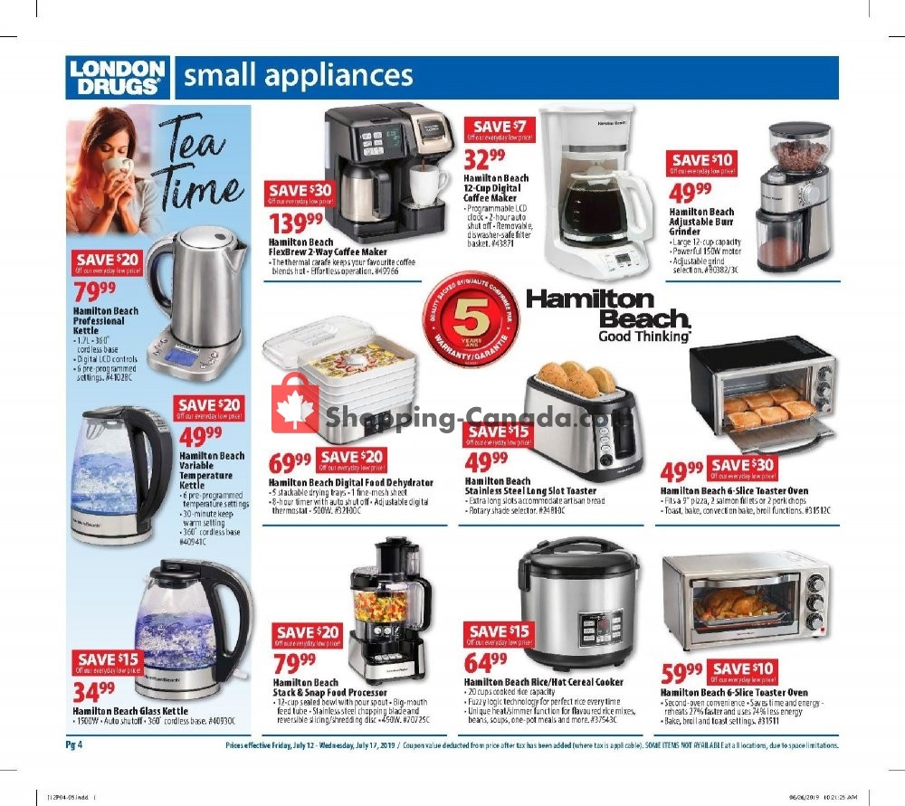 Flyer London Drugs Canada - from Friday July 12, 2019 to Wednesday July 17, 2019