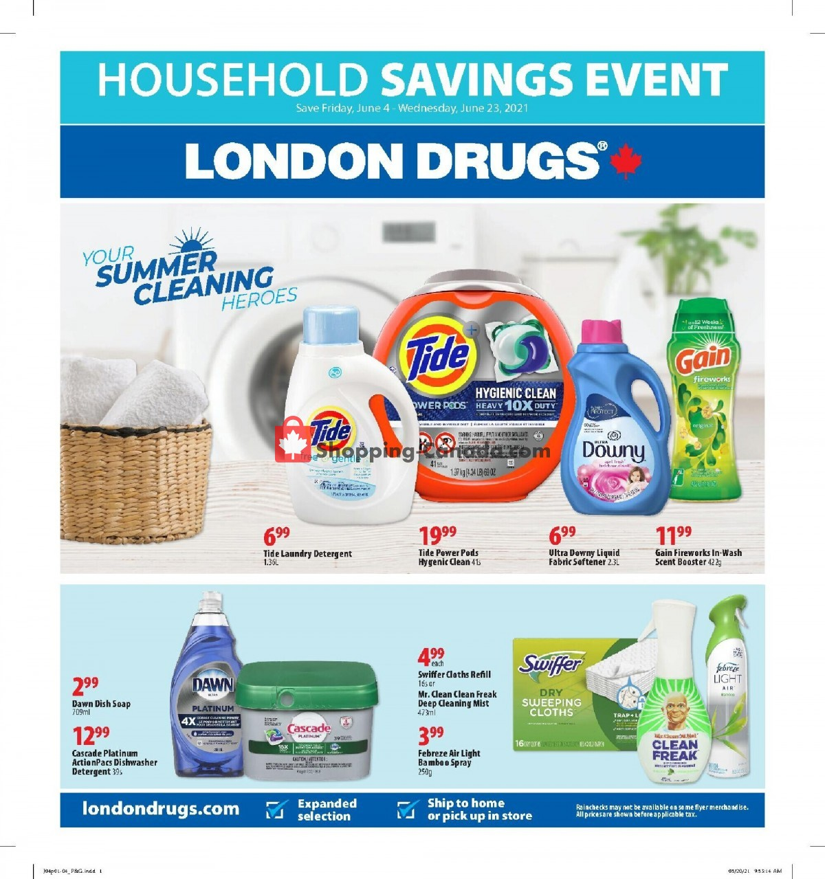 Flyer London Drugs Canada - from Friday June 4, 2021 to Wednesday June 23, 2021