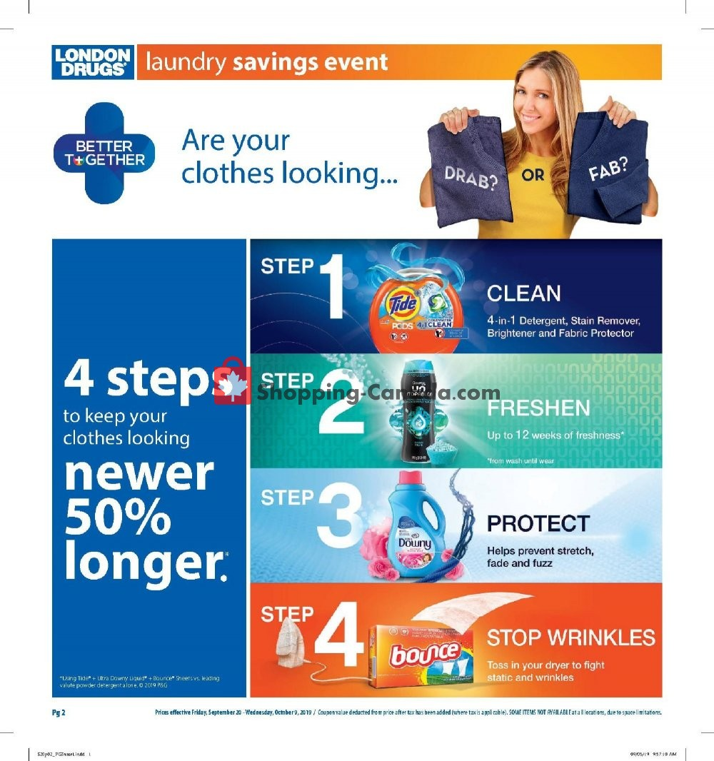 Flyer London Drugs Canada - from Friday September 20, 2019 to Wednesday October 9, 2019
