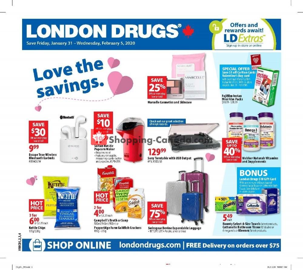 Flyer London Drugs Canada - from Friday January 31, 2020 to Wednesday February 5, 2020