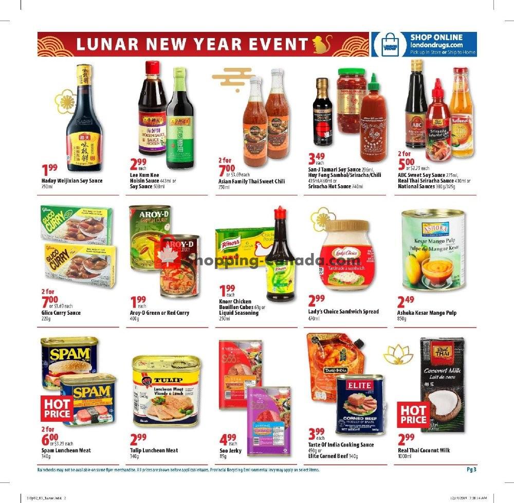 Flyer London Drugs Canada - from Friday January 10, 2020 to Sunday February 2, 2020