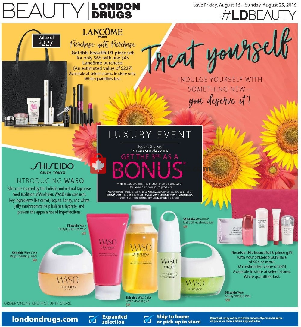 Flyer London Drugs Canada - from Friday August 16, 2019 to Sunday August 25, 2019