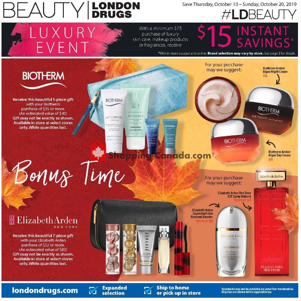 Flyer London Drugs Canada - from Thursday October 10, 2019 to Sunday October 20, 2019