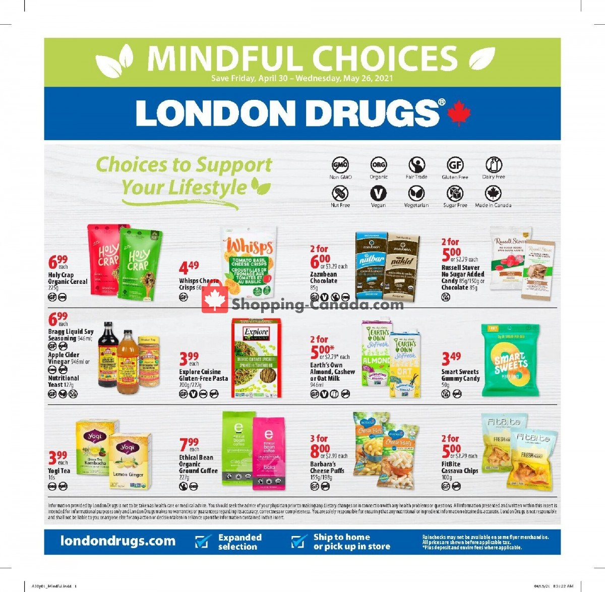 Flyer London Drugs Canada - from Friday April 30, 2021 to Wednesday May 26, 2021