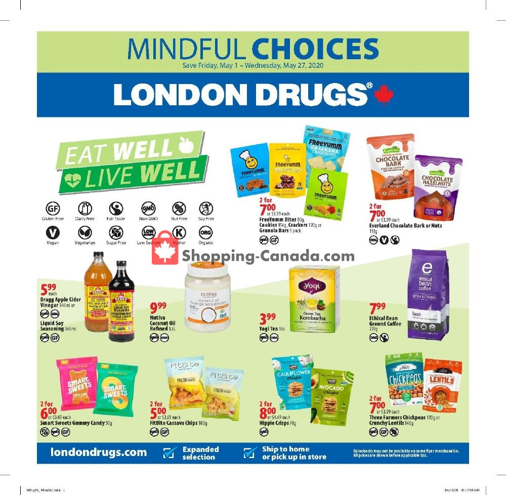 Flyer London Drugs Canada - from Friday May 1, 2020 to Wednesday May 27, 2020