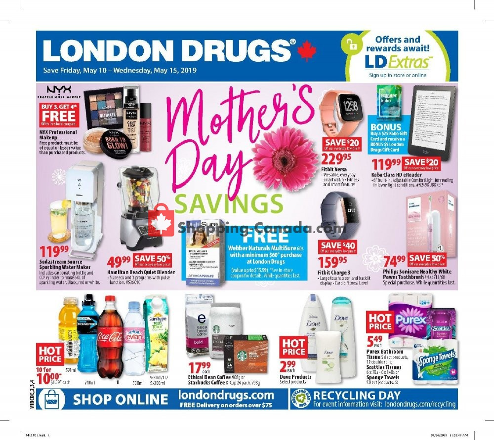 Flyer London Drugs Canada - from Friday May 10, 2019 to Wednesday May 15, 2019