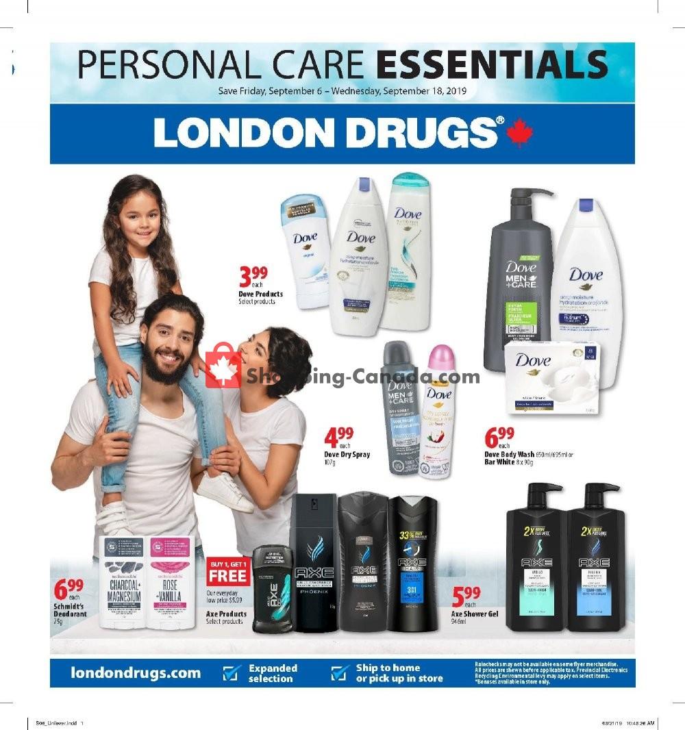 Flyer London Drugs Canada - from Friday September 6, 2019 to Wednesday September 18, 2019