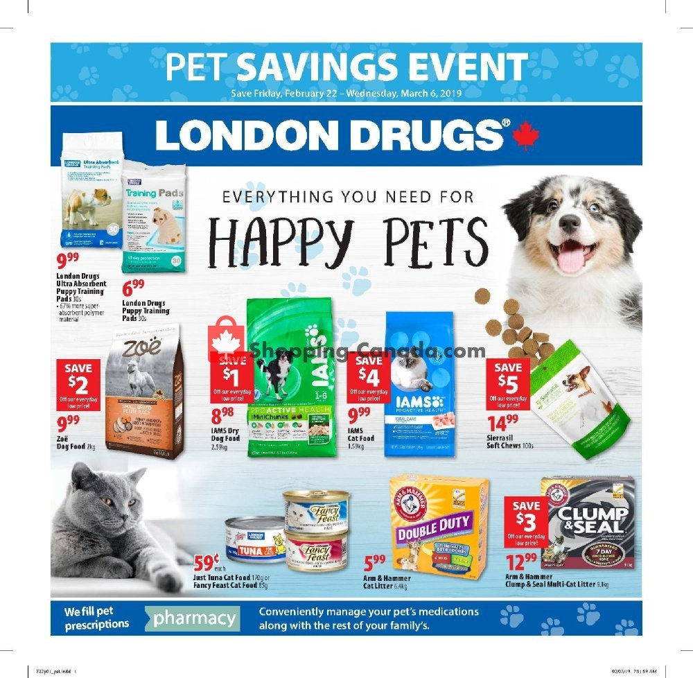 Flyer London Drugs Canada - from Friday February 22, 2019 to Wednesday March 6, 2019