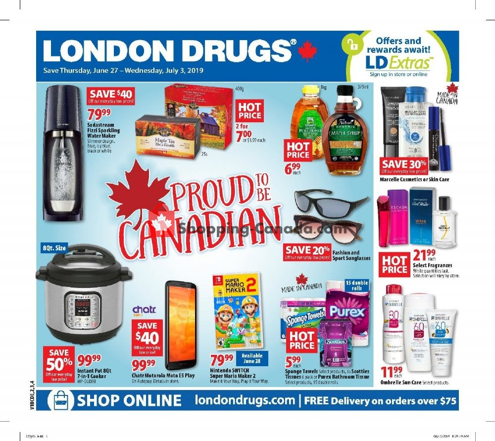 Flyer London Drugs Canada - from Thursday June 27, 2019 to Wednesday July 3, 2019