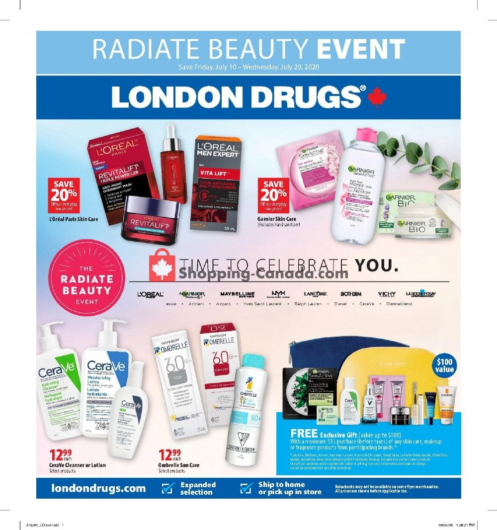 Flyer London Drugs Canada - from Friday July 10, 2020 to Wednesday July 29, 2020